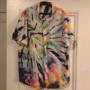 Custom tie dye Levi's button down shirt size M/L
